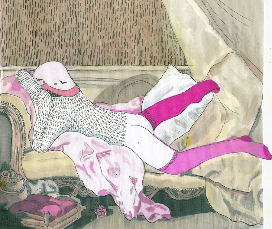 """Bestia rosa"" por Carmelina Jardón"