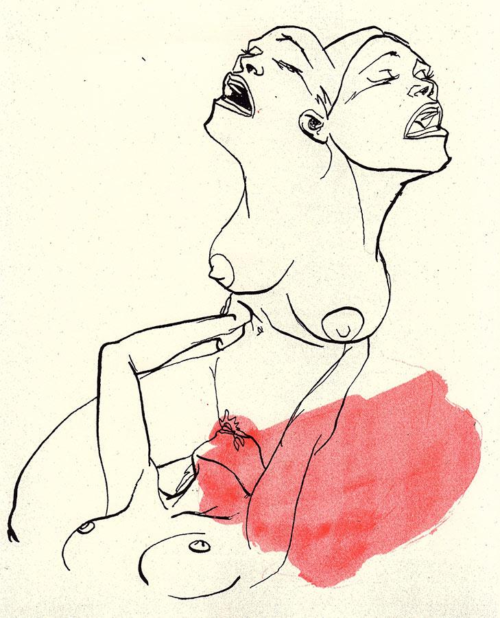 """Tricéfala"", Ilustración de Itziar Markiegi"