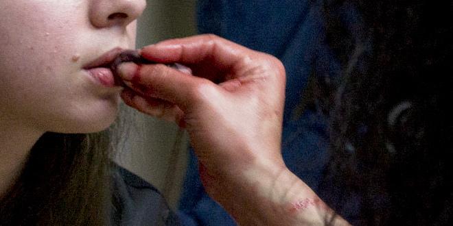Oración a Verónica: imagen ambulatoria del acto de sangrar