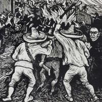 """Mariana Yampolsky  """"Asalto al tren de Guadalajara, dirigido por el cura Angulo, 13 de abril de 1927"""", 1947."""