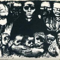 """Käthe Kollwitz """"The Survivors"""" 1923. Usado como póster en el Día contra la Guerra"""
