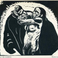 """Käthe Kollwitz """"El sacrificio"""",1922."""