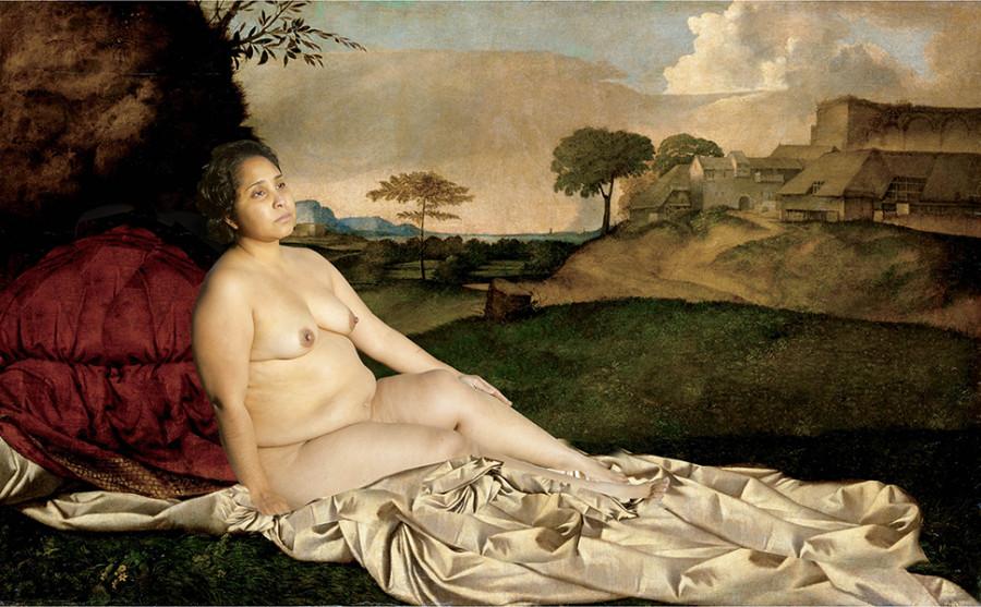 Sobre la venus dormida. De la serie La Atlántida, o la utopía del cuerpo femenino (2015 - en proceso), Carol Espíndola